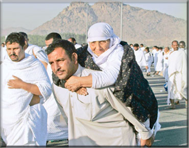 The Pilgrim's Provision A-man-taking-his-old-mother-to-hajj