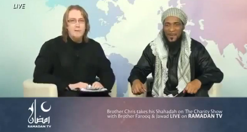 Watch this episode to see how Chris from Norwich takes his Shahadah on the Charity Show with brother Farooq and Jawad live on Ramadan TV.