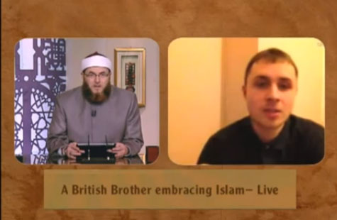 Watch brother Jamie taking the Shahadah live on Huda TV.