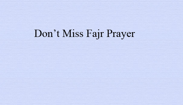 What is the deadline for Fajr prayer? To know the answer, watch this short video by Dr. Muhammad Salah produced by Huda TV.