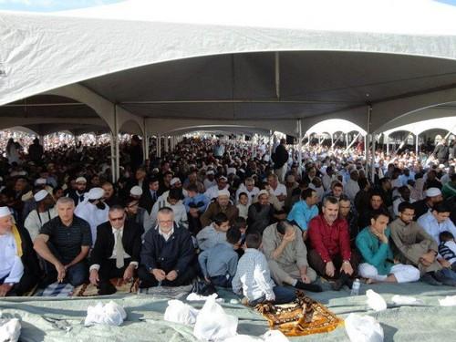 Muslims on the Day of `Eid Al-Fitr