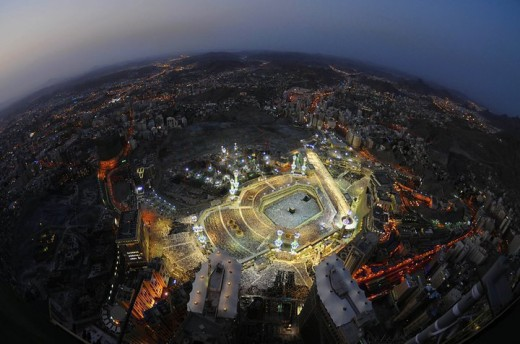 Makkah at night