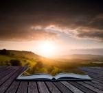 livre ouvert avant le soleil