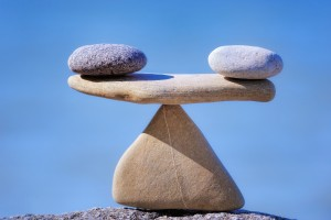 stones like a scale
