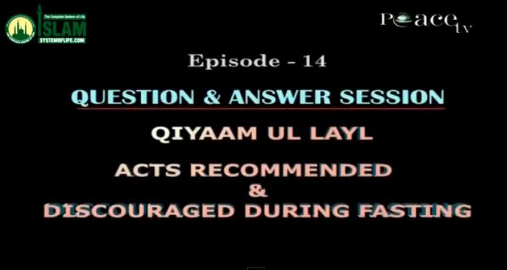 Q & A Session on Tarawih and Ramadan