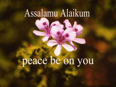 Islamic greeting of salam