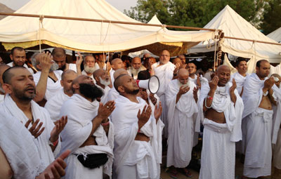 pilgrims return from hajj