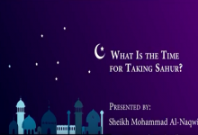 What Is the Time for Taking Sahur